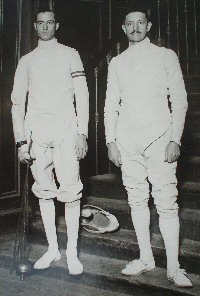 Aldo Nadi and Felix Ayat photographed in 1926